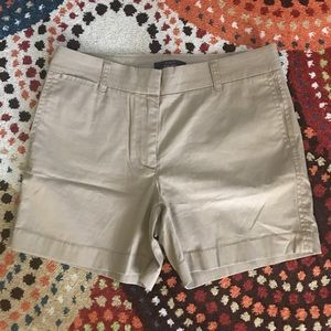 "NWT J. Crew Khaki 5"" Stretch Chino Shorts- Size 4"